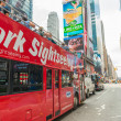 Постер, плакат: NEW YORK CITY JUNE 11: New York Sightseeing Hop on Hop off bus