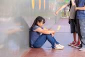 School bullying. Multiracial class — Stock Photo