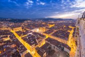 Wonderful view of Florence at sunset times. Aerial view from Cam — Stock Photo