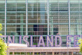 Staten Island Ferry Entrance Sign, New York — Stock Photo