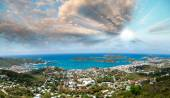 Saint Thomas Coastal Panorama at dusk, Caribbean — Stock Photo