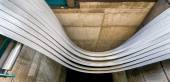 Steel coil cut — Stock Photo