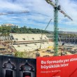 ISTANBUL - OCTOBER 23, 2014: Panoramic view of construction site — Stock Photo #73729031