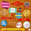 Set of ribbons and labels — Stock Vector #63564379
