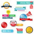 Set of sale design elements — Stock Vector #72239277