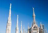 Milan Dome: the most important landmark of the Expo 2015 city. — Stock Photo