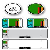 Zambia auto set — Stock Vector