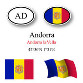 Andorra flags and icons set — Stock Vector
