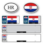Croatia auto set — Stock Vector