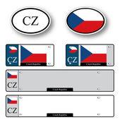 Czech republic auto set — Stock Vector