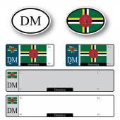 Dominica auto set — Stock Vector