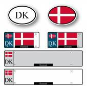 Denmark auto set — Vector de stock