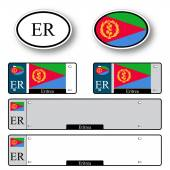 Eritrea auto set — Stock Vector