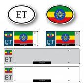 Ethiopia auto set — Stock Vector