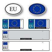 European union auto set — Stock Vector