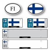 Finland auto set — Stock Vector
