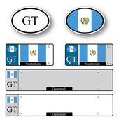 Guatemala auto set — Stock Vector