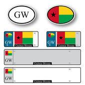 Guinea bissau auto set — Stock Vector