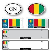 Guinea auto set — Stock Vector