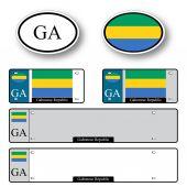 Gabonese republic auto set — Stock Vector