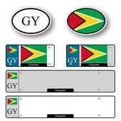 Guyana auto set — Stock Vector