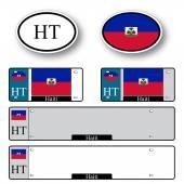 Haiti auto set — Stock Vector