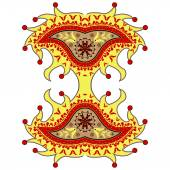 Harlequin paisley ornament — Stock Vector
