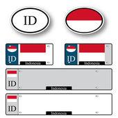 Indonesia auto set — Stock Vector