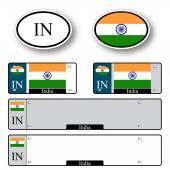 India auto set — Stock Vector