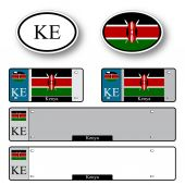 Kenya auto set — Stock Vector