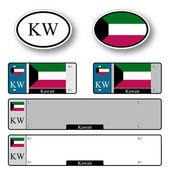 Kuwait auto set — Stock Vector
