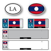 Laos auto set — Stock Vector