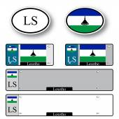 Lesotho auto set — Stock Vector