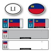 Liechtenstein auto set — Stock Vector