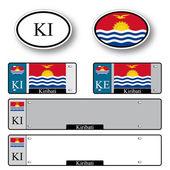 Kiribati auto set — Stock Vector