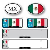 Mexico auto set — Stock Vector
