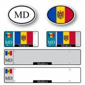 Moldova auto set — Stock Vector