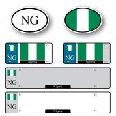 Nigeria auto set — Stock Vector