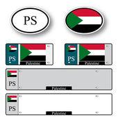 Palestine auto set — Stock Vector