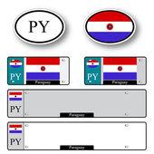 Paraguay auto set — Stock Vector