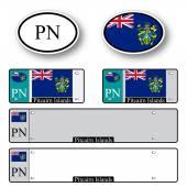 Pitcairn islands auto set — Stock Vector