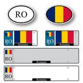Romania auto set — Stock Vector