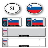 Slovenia auto set — Stock Vector