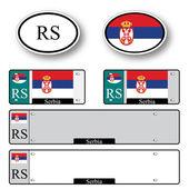 Serbia auto set — Stock Vector