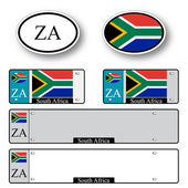 South africa auto set — Stock Vector