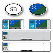 Solomon islands auto set — Stock Vector