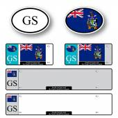 South georgia and south sandwich islands auto set — Stock Vector