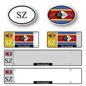 Swaziland auto set — Stock Vector