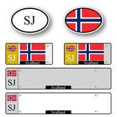Svalbard auto set — Stock Vector