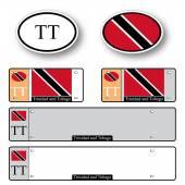 Trinidad and tobago auto set — Stock Vector